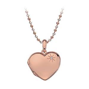 Gold Plated Hearts With Silver Chain Charm
