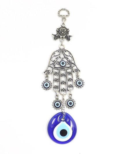 Lucky Evil Eye Hand Of Fatima Silver Charm