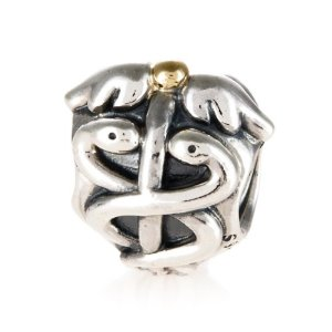 Pandora 14 Ct Yellow Gold Life Saver Charm