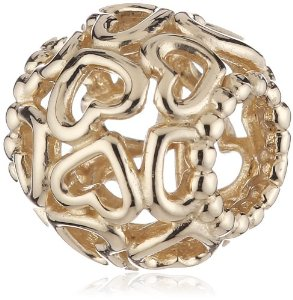 Pandora 14 Ct Yellow Gold Open Your Heart Charm