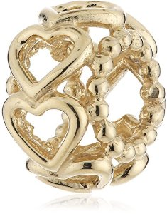 Pandora 14K Yellow Gold Open Your Heart Spacer Charm