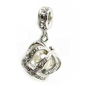Pandora 3 D Crown Pearl Dangle Charm