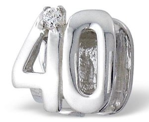Pandora 40th Birthday Double Sided Clear Stones Charm