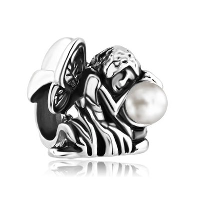 Pandora Angel March Birthstone Charm