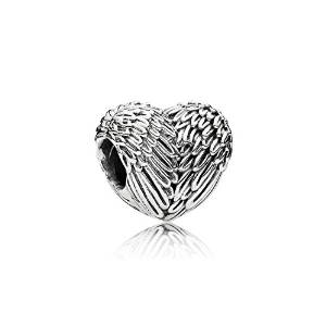 Pandora Angel Winged Heart Holding Baby Charm