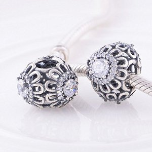Pandora Antique Floral Clear Crystal Charm image