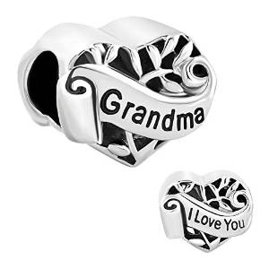 Pandora Antique Silver Design Heart Shaped Grandma Charm