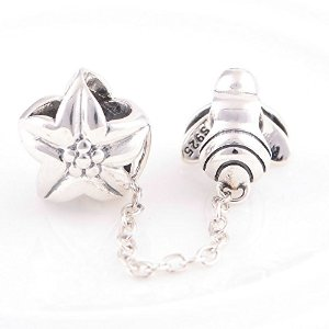 Pandora Antique Solid Flower Bee Charm image