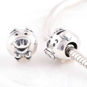 Pandora Antique Solid Piglet Charm smaller image