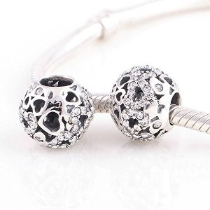 Pandora Antique Solid Queen Clear Crystal Charm