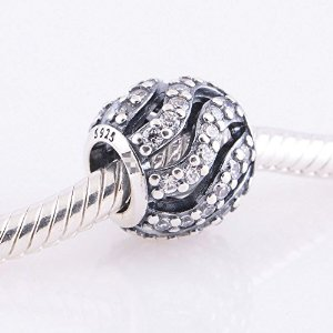 Pandora Antique Solid Winter Wisp Clear Crystal Charm