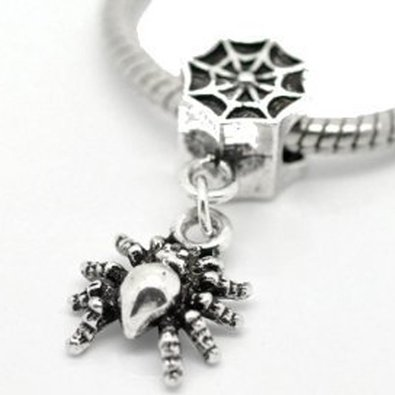 Pandora Antique Spider And Web Charm