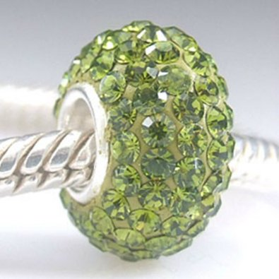 Pandora August Birthstone Olive Green Crystal Charm
