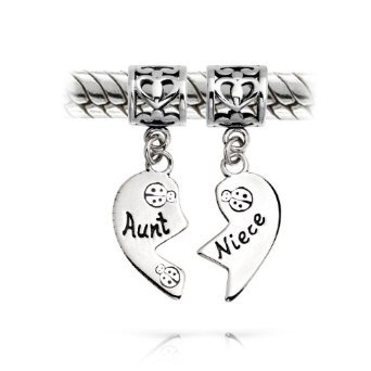 Pandora Aunt And Niece Heart Dangle Charm