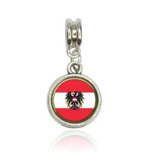 Pandora Austria Flag Heart Photo Charm