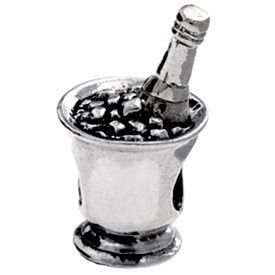 Pandora Authentic Champagne On Ice Charm