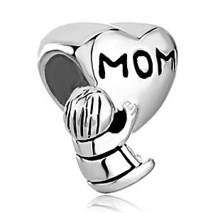 Pandora Baby And Mom Heart Charm