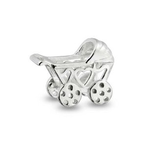 Pandora Baby Carriage Hearts Charm
