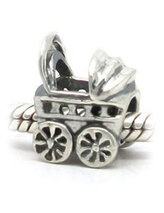 Pandora Baby Carriage Silver Charm