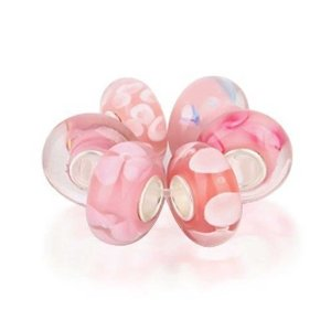 Pandora Barbie Pink Murano Glass Bundle Charm