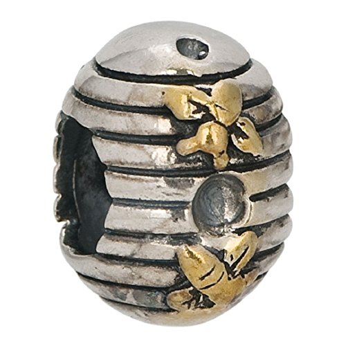 Pandora Beehive Bees Gold Plated Charm