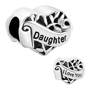 Pandora Believe Daughter Silver Plated Charm