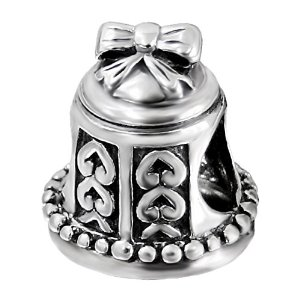 Pandora Bell With Hearts Charm