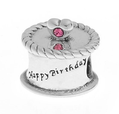 Pandora Birthday Cake With Pink Stones Charm