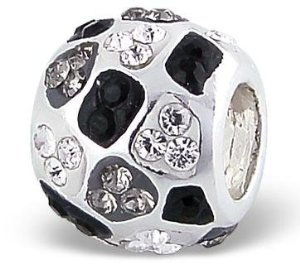 Pandora Black And Grey Crystal Charm