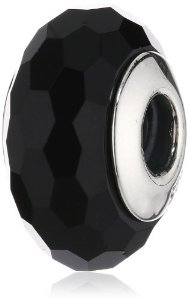 Pandora Black Faceted Crystal Charm