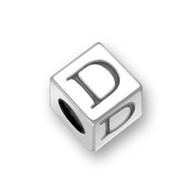 Pandora Block Letter D Sterling Silver Charm image