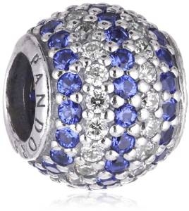 Pandora Blue And White Crystal Ball Charm