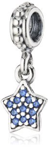 Pandora Blue CZ Star Dangle Charm