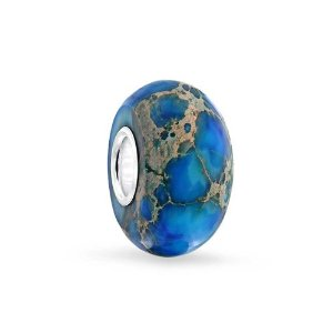 Pandora Blue Impression Simulated Jasper Charm