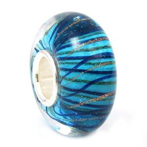 Pandora Blue Stripes Murano Glass Charm