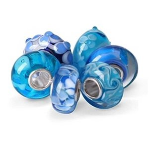 Pandora Blue Topaz Color Murano Glass Bundle Charm