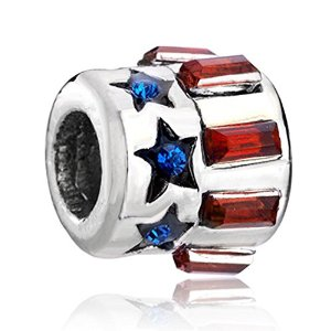 Pandora Bolt Blue Red Crystal Charm