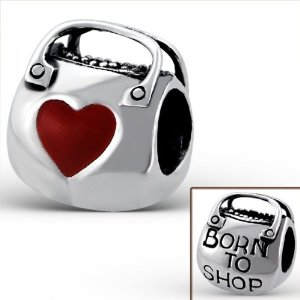 Pandora Born To Shop Purse Red Heart Charm