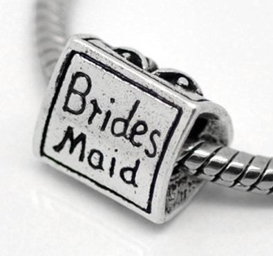 Pandora Bridesmaid Silver Plated Charm