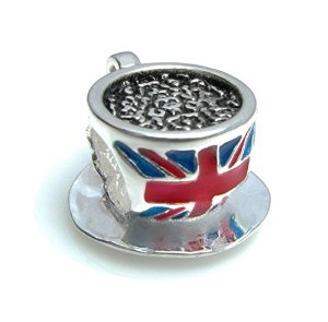 Pandora British Flag Tea Cup Charm