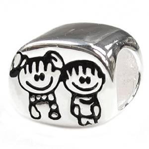 Pandora Brother And Sister Faces Charm