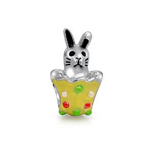 Pandora Bunny Rabbit In Easter Egg Charm