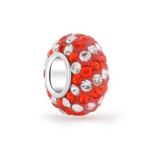 Pandora Candy Cane Striped Crystal Charm