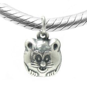 Pandora Cat Face Dangling Charm