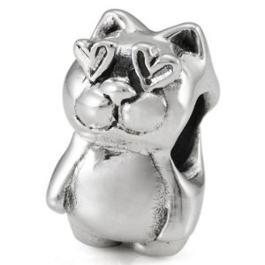 Pandora Cat In Love Charm
