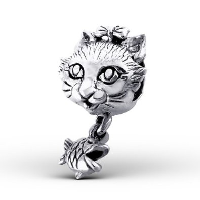 Pandora Cats Face Sterling Silver Charm image
