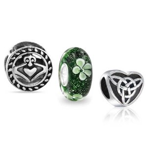 Pandora Celtic Claddagh Heart Clover Set Charm