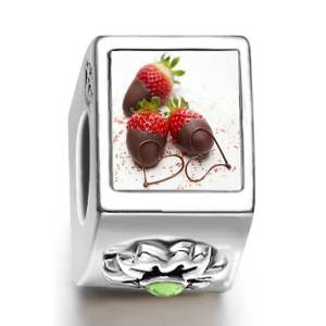 Pandora Chocolate Love August Birthstone Photo Flower Charm