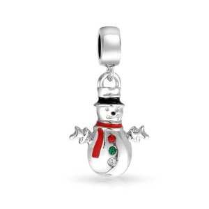 Pandora Christmas Snowman Dangle Charm