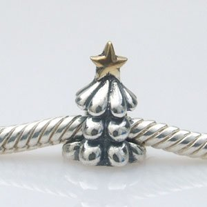 Pandora Christmas Tree Gold Plated Charm